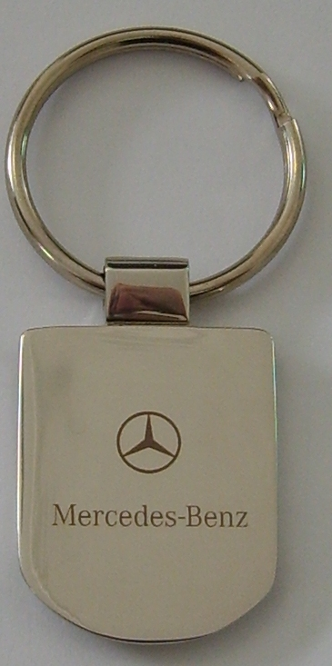 Oval Shaped Metal Key Chain with Curved Design
