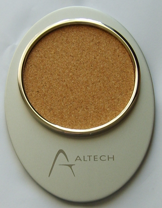 coasters-matt-metal-finish-altech-logo
