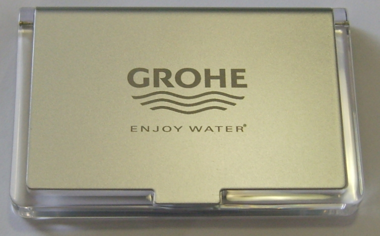 business-card-holder-gray-plastic-lid-grohe-logo11