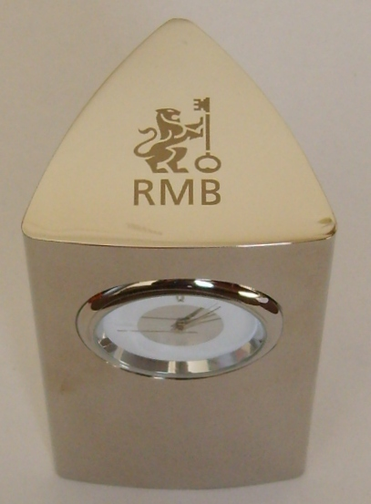 desk-clock-stainless-steel-rmb-logo