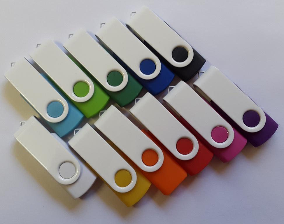 Colour bodies with white clip various capacities and gigabytes