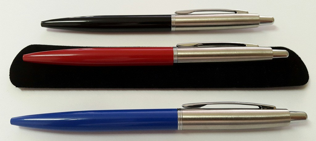 Jotta executive pens red black blue with Velvet Pouch